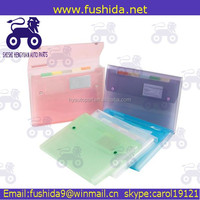 China manufacturer colorful presentation a5 paper pp expanding file