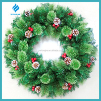 Christmas decoration artificial christmas wreaths with fruit