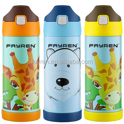Children vacuum flask/stainless steel kids water bottle