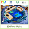 New product environmental friendly oil resistance resin liquid epoxy 3d floors coating