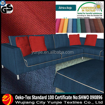 Polyester Linen Sofa Cover Fabric, Polyester Linen Like Fabric