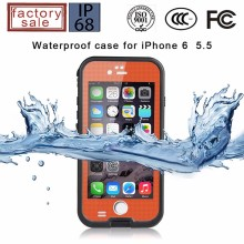 For iPhone 6 5.5inch Waterproof Case, Slim Durable Shockproof Dirt Snow Case Cover for Apple iPhone 6 plus Waterproof cover