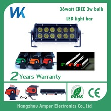 36w 12 volt led lighting dual row 7inch working daytime running light high intensity led bar