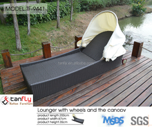 rattan furniture sun lounger outdoor pool bed lounge