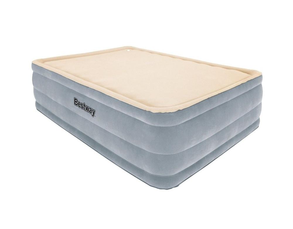 Bestway foamtop comfort raised airbed flocked queen airbed mattress inflatable memory foam air mattress - Jozy Mattress   Jozy.net