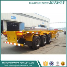 FUWA axle twin axle skeletal container chassis trailer