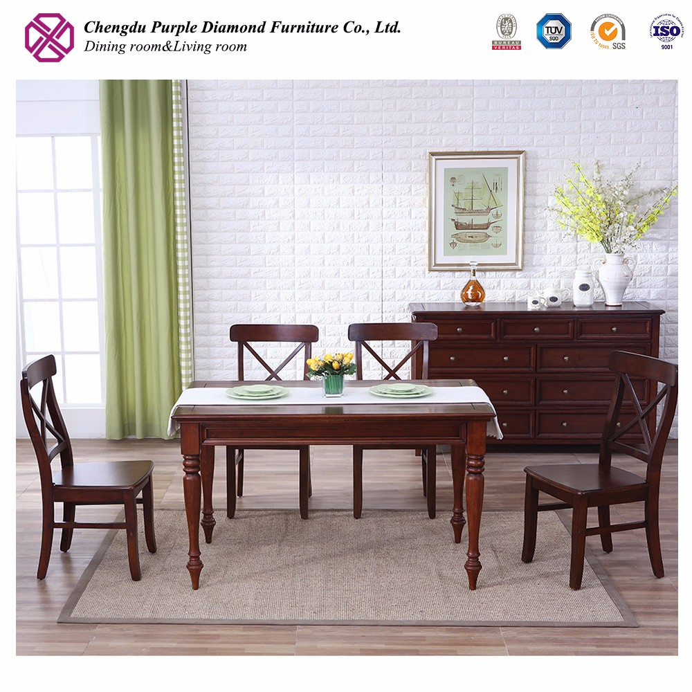Mahogany furniture antique solid wood dining table new model
