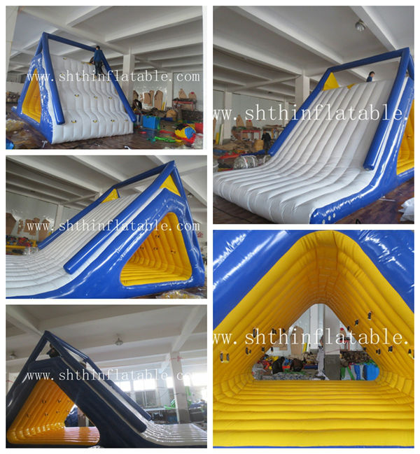 inflatable floating water slide / lake inflatable water slide