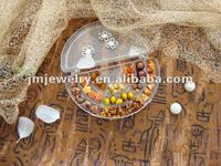 Fashion amber beads diy jewelry making kit with moon shaped box for your own necklace