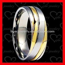Special gold inlaid stainless steel snap ring