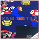 Outdoor Material Super Mario Pattern Poly print fabric bonded with Micro Fleece Softshell