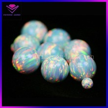 OP18 color round cabochon opal stone beads price of white opal stone