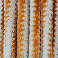 100% polyester yarn dyed fake fur fabric