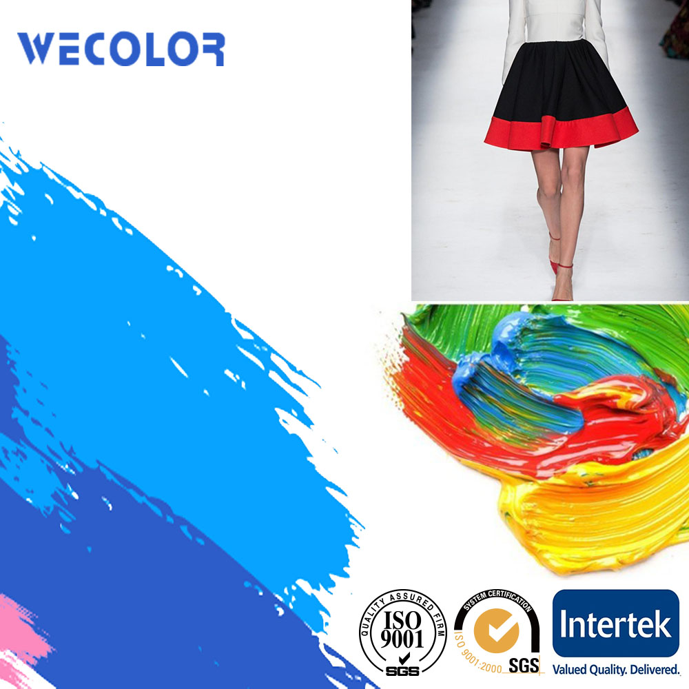 Textile coating water based liquid pigment colors