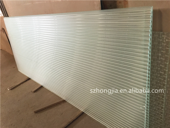 hongjia interior fitouts decorative 6mm ribbed glass sheets