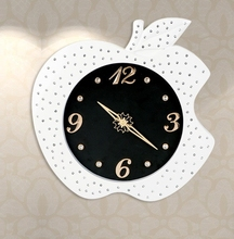 apple shape wall clock apple wall clock