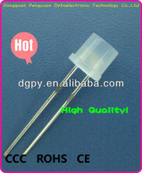 China Factory Direct Sale Low Price 5mm 8mm white diffuse Flat top led diodes ( CE & RoHS Compliant )