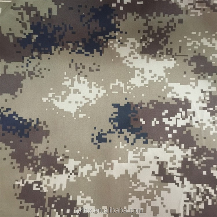 Hot Sale Camouflage Printed 100 Polyester Gabardine Fabric for Military Uniform