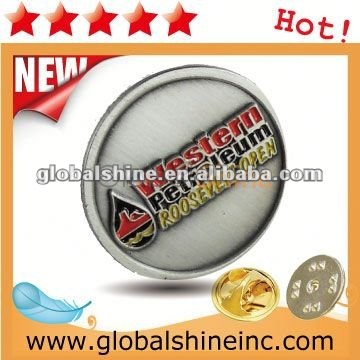 zinc alloy lapel pin for advertising