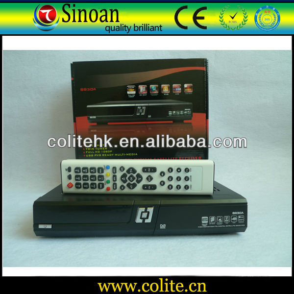 930a/Azamerica S930a,Digital Satellite Receiver With Twin Tuner Nagra3 FULL HD 1080P