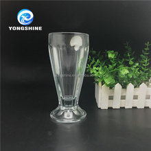 250ml beautiful clear ice cream glass cup, tea with milk glass cup