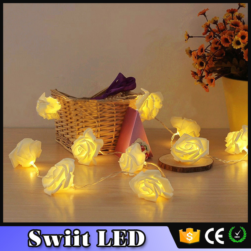 2016 Premium Quality SW110 good quality holiday flower lighting led light chain