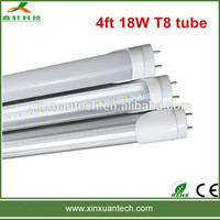 Hot sale high quality high brightness high lumen 4ft 18w t8 led tube light fixture