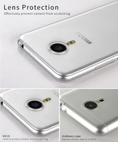 EXCO Ultraslim Mirror Aluminum Mobile Phone transparent TPU back cover for meizu pro 5