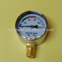Utility Bottom connection pressure gauge