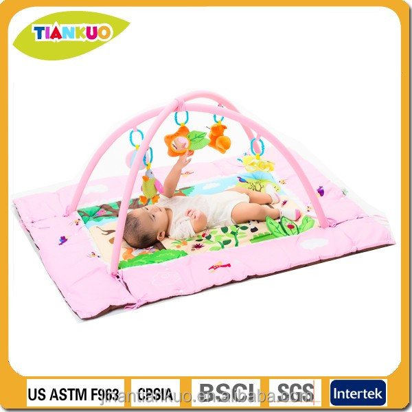 custom design educational toy plush toy padding baby play mat