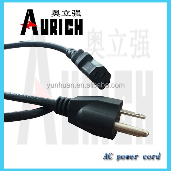 North American Power Cords with 3P Plugs and C13 Socket 125v home appliances PVC power cables popular cable reel