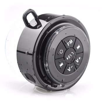 2017 Hot Selling Super Bass Waterproof Bluetooth Stereo Shower Speaker