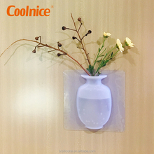 Cheap wall hanging clear plastic home goods decorative flower vase