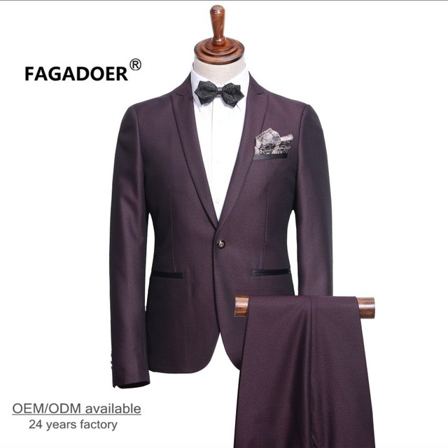 2017 New Arrival Custom Men Suit Fashion Design Royal Blue Mens Tuxedo Dress Suits With Pants Prom Groom Wedding Suits For Men