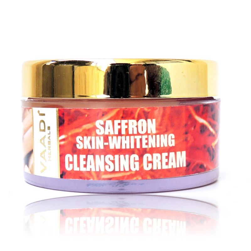 Saffron Sandal Cleansing Cream with Lemongrass Oil & Orange Peel Extract