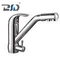 Single Hole Kitchen Sink Faucet Drinking Water Mixer Tap with Filter in Brass