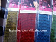 synthetic feather hair extension/hot feather extension/ feather hair extension