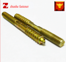 China high quality METAL 3/16 UNC THREAD X 25MM BZP STEELDOUBLE END WOOD DOWEL SCREW
