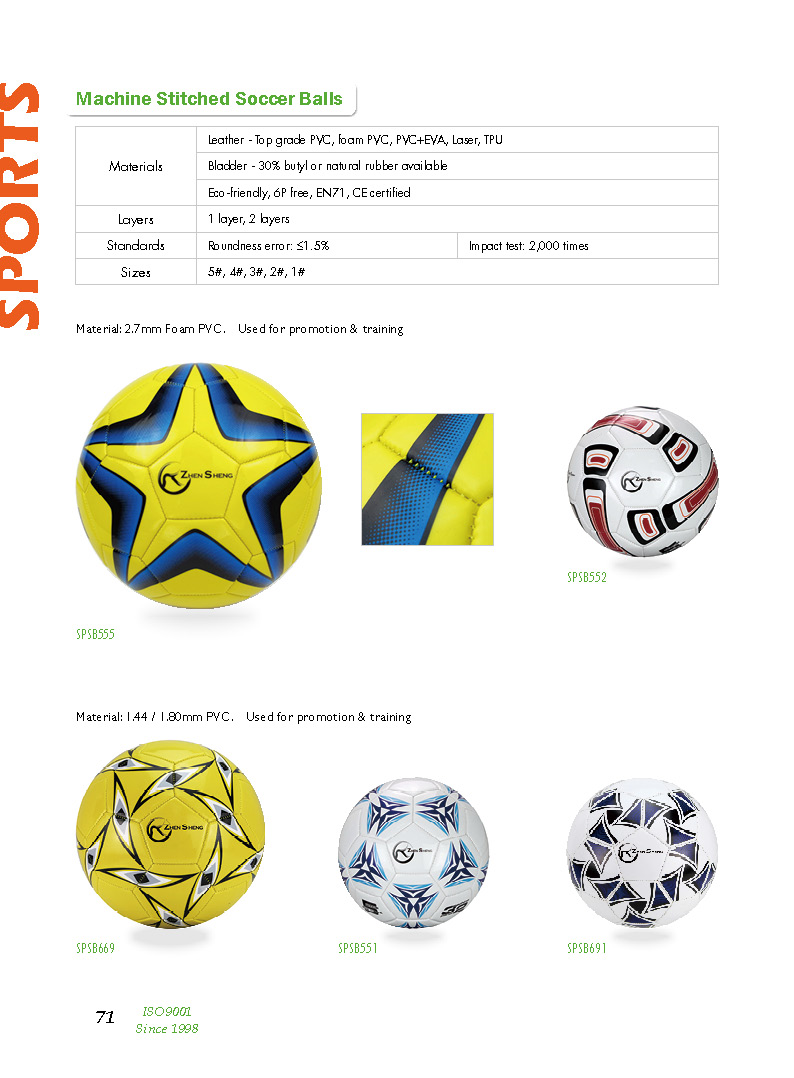 Zhensheng Custom Soccer ball Size 5 Inflatable Football for Training