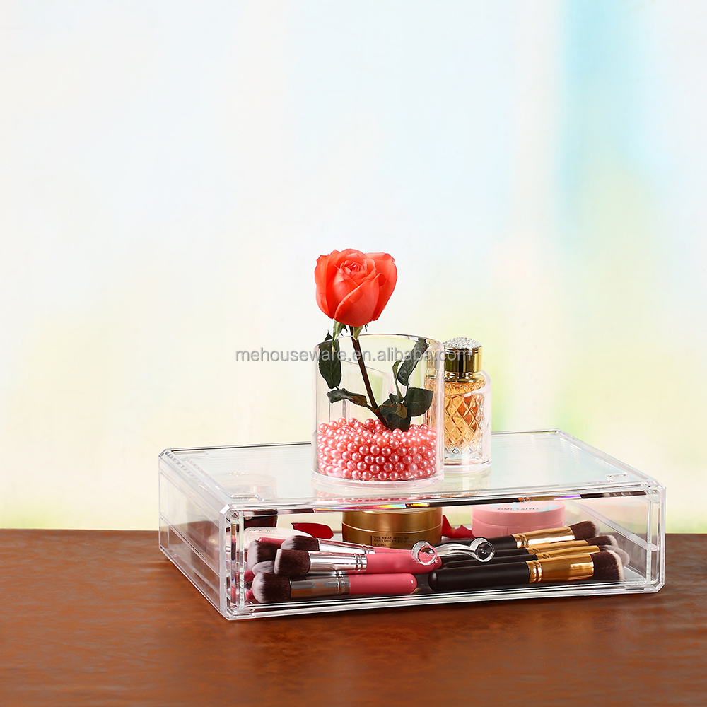 Valentine's Day gift acrylic makeup cosmetic jewelry display organizer box case