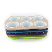 "6 cups 3"" per cup cake baking pan ceramic colourful green blue brown purple 6 well sections oven bakeware bun tray muffin pan"
