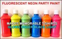 Fluorescent Black Light Acrylic Paint