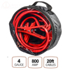 4 Gauge 20 feet Insulated Clamp Heavy Duty Car Battery Jump Start Booster Cables 800A