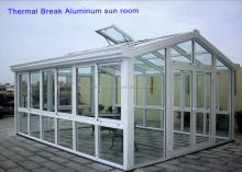 Thermal break aluminum frame glass room/sun house