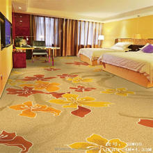 China stock design floral printed nylon carpet for hotel room