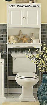 bathroom wood Space saver toilet cabinet MDF bath space saver
