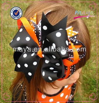 4 inch Girls Halloween Hairbow Large Boutique Bows