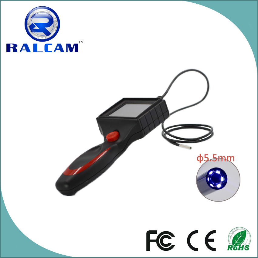 Waterproof 1.0m snake tube 5.5mm probe handheld video borescope for steam turbines inspection