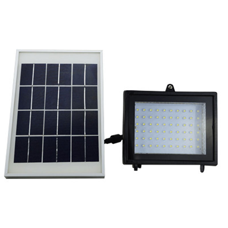 60 LED Solar Powered Flood Light Emergency Outdoor Bright Security Wall Light Lamp Floodlight Projector for luz de emergencia