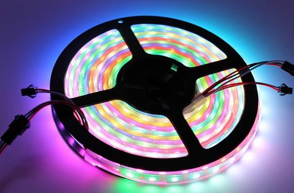 5M ws2812b 60leds/m Non-waterproof Black PCB 5050 RGB WS2811 IC built-in 5050 RGB LED Digital Addressable Color Strip DC5V